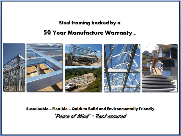 Steel Framing 50 Year Guarantee