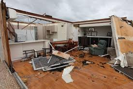 Fig 3.Wooden house destroyed Cyclone Yasi 2011